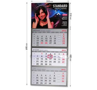 Kaledarz trójdzielny - standard