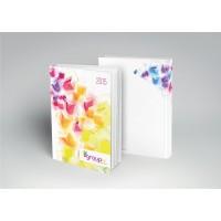 Kalendarz książkowy A5 układ dzienny - oprawa kolorowa indywidualna